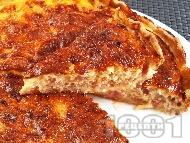 Рецепта Пирог с бекон и лук